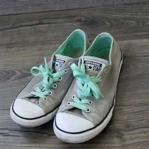 Converse grey and mint sneakers low top
